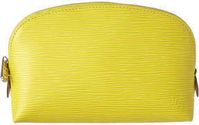 Louis Vuitton Yellow Epi Leather Cosmetic Pouch