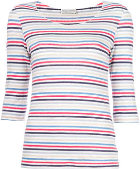 Le Tricot Perugia striped fitted top