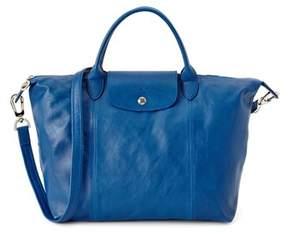 Longchamp Le Pliage Cuir Leather Medium Handbag. - MOCHA - STYLE