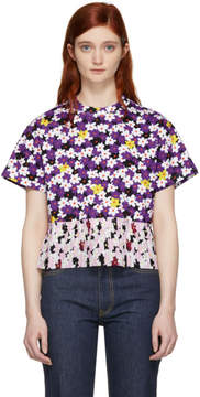 Kenzo Multicolor Mix Floral Pleated T-Shirt