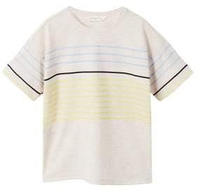 MANGO Striped print t-shirt