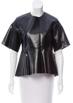 Celine Leather Peplum Top w/ Tags