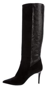 Barbara Bui Snakeskin Knee-High Boots