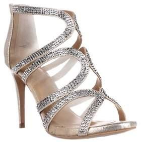 Thalia Sodi Ts35 Fabiaa Mesh Dress Sandals, Champagne.
