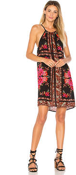 Band of Gypsies Scarf Print High Neck Dress