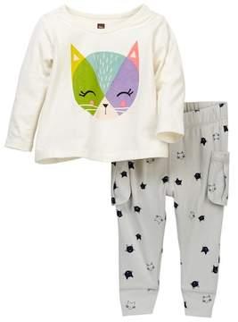 Tea Collection Hamish McHamish Tee & Pants Set (Baby Girls)