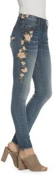 Driftwood Floral Embroidered Gumdrop Jeans
