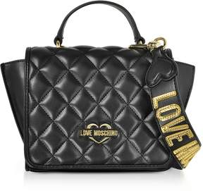 Love Moschino Black Superquilted Eco-Leather Small Shoulder Bag