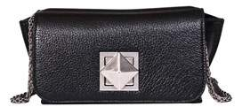 Sonia Rykiel Women's Black Leather Shoulder Bag.