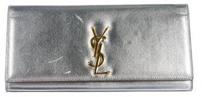 Saint Laurent Monogram Kate Clutch - METALLIC - STYLE