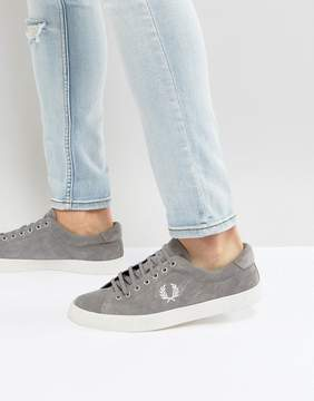 Fred Perry Underspin Suede Crepe Sneakers in Gray