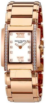 Patek Philippe Twenty-4 18kt Rose Gold Ladies Diamond Watch