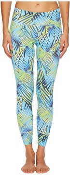 Letarte Blue Palm Leggings Women's Swimwear
