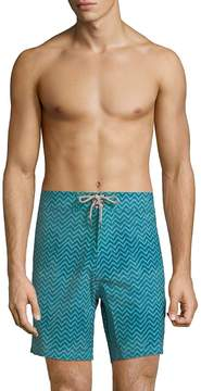 Faherty Brand Men's 7 Zigzag Board Shorts