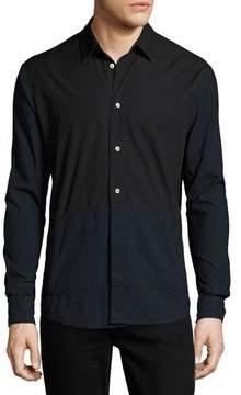 McQ Two-Tone Blocked Cotton Shirt
