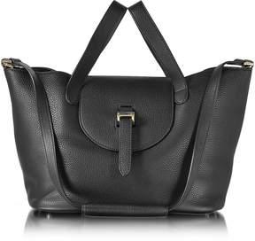 Meli-Melo Black Leather Thela Medium Tote Bag
