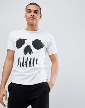 Solid T-Shirt With Skull Face