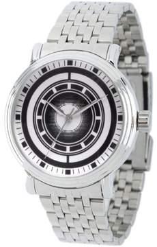 Marvel Avengers Tony Stark Men's' Silver Alloy Vintage Watch, Silver Stainless Steel Bracelet