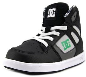 DC Rebound Se Ul Toddler Round Toe Leather Multi Color Skate Shoe.