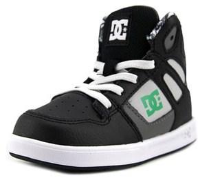 DC Rebound Se Ul Toddler Round Toe Leather Multi Color Skate Shoe.
