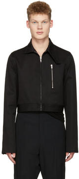 Rick Owens Black Cropped Brother Jacket