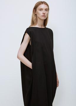 Black Crane Black Accordion Dress