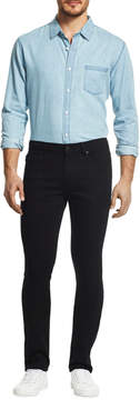 DL1961 Premium Denim Tapered Slim-Leg Jeans, Black