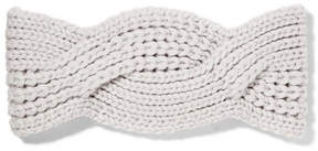 Johnstons of Elgin - Cable-knit Cashmere Headband - Gray