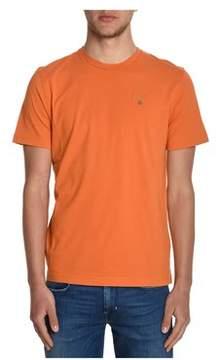 Aeronautica Militare Men's Orange Cotton T-shirt.