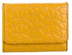 Akris Quilted Leather Compact Wallet