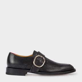 Paul Smith Women's Black Leather 'Alexa' Monk-Strap Shoes