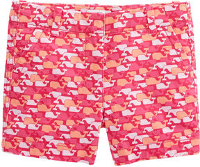 Vineyard Vines Girls Whale Outline Every Day Shorts