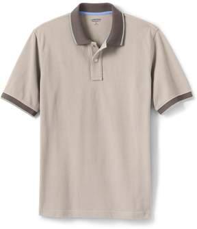 Lands' End Lands'end Men's Short Sleeve Mesh Tipped Polo Shirt