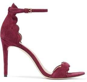 Rachel Zoe Scalloped Suede Sandals