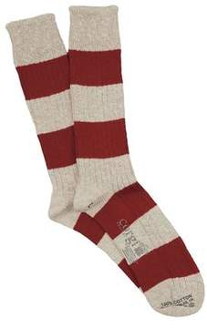 Corgi Rugby Stripe Sock in Red