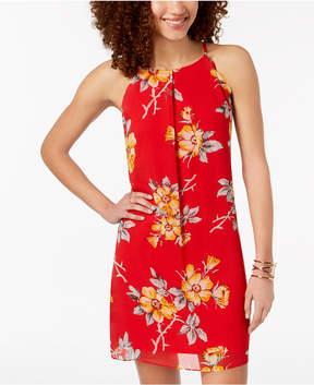 BCX Juniors' Floral-Print Scalloped Dress