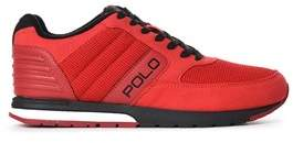 Ralph Lauren Men's Black/red Fabric Sneakers.