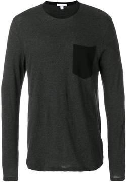 James Perse contrast pocket shirt