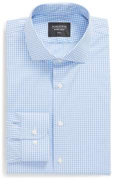 Nordstrom Gingham Print Trim Fit Dress Shirt