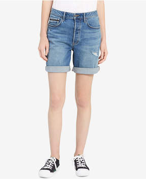 Calvin Klein Jeans Distressed Denim City Shorts