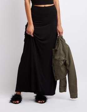 Charlotte Russe Jersey Knit Maxi Skirt