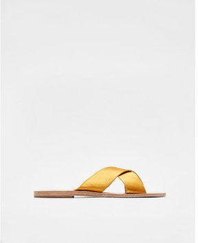 Express satin crisscross sandals