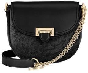 Aspinal of London | Portobello Bag With Chain In Black Pebble | Black pebble
