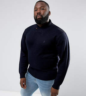 French Connection PLUS Shawl Collar Sweater