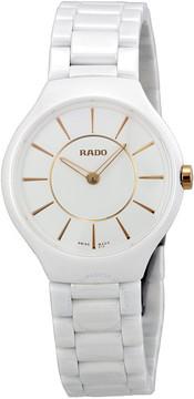 Rado True Thinline Ceramic Ladies Watch