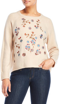 Cliche Embroidery Cropped Sweater