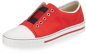 Gucci Canvas Slip-On Sneaker, Youth