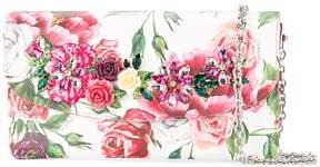 Dolce & Gabbana peony print clutch bag