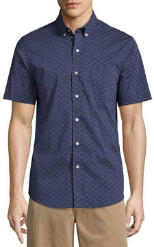 Dockers Short Sleeve Comfort Stretch Button-Front Shirt