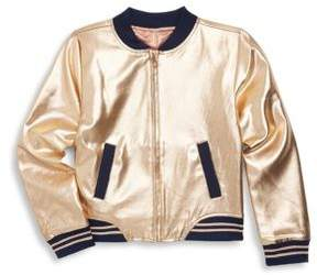 Petit Lem Little Girl's Metallic Zippered Jacket